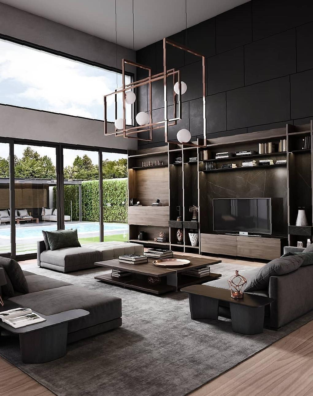 40 Loft Living Rooms That Will Blow Your Mind loft living room,modern living room,minimalism living room,industrial living room,cozy living room